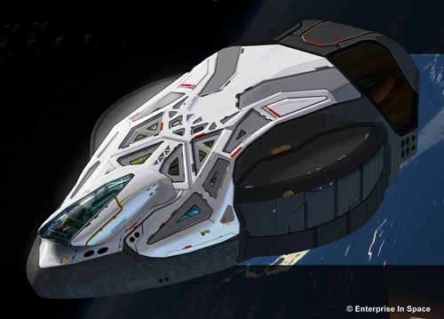 Graphic of the NSS Enterprise.