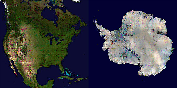 North America vs Antarctica