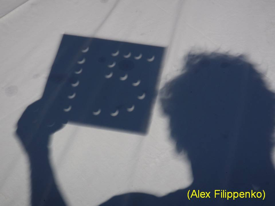 This is Prof. Alex Fillipenko's 15th successful eclipse viewing.